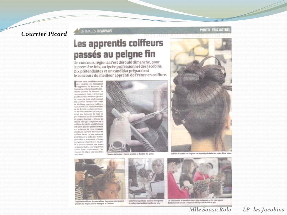 Courrier Picard Mlle Sousa Rolo LP les Jacobins