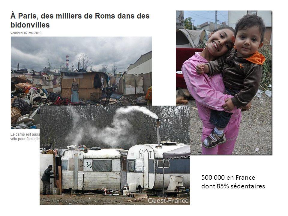 500 000 en France dont 85% sédentaires