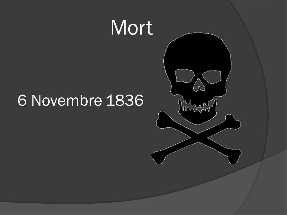 Mort 6 Novembre 1836