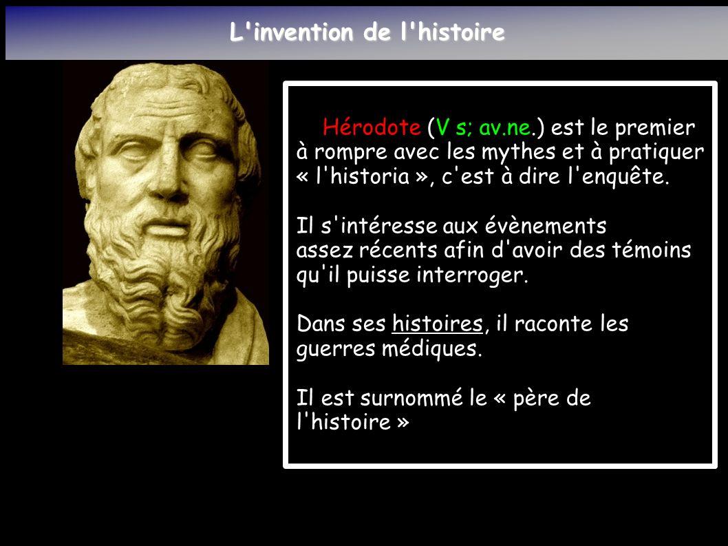 L invention de l histoire Le souci de Thucidide (V s.