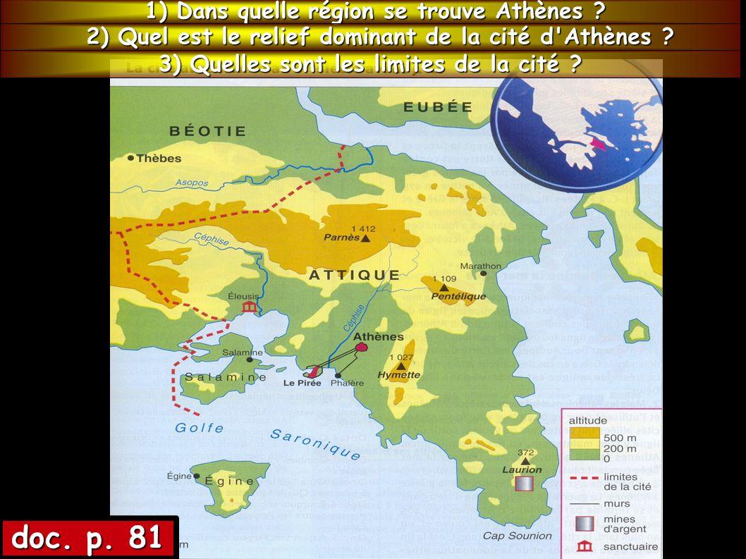 doc.3 p.85 4) La ville d Athènes (et non la cité) est composée de deux parties, lesquelles .