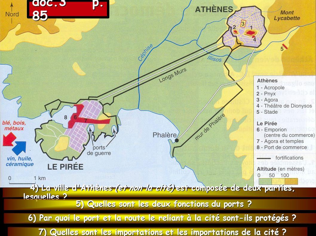 8) Quels sont les éléments de la richesse d Athènes .