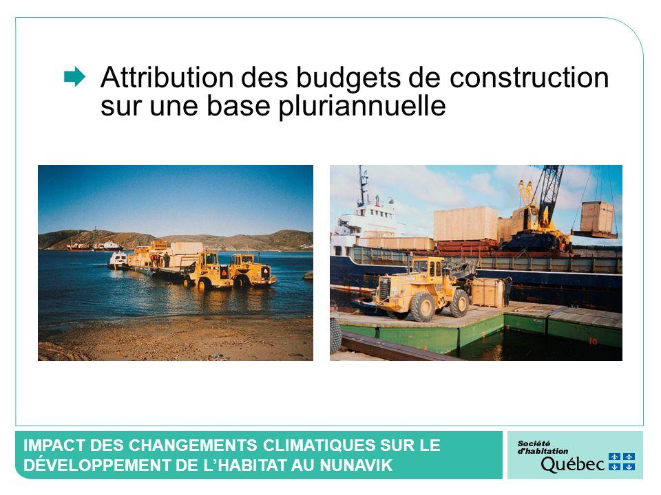 IMPACT DES CHANGEMENTS CLIMATIQUES SUR LE DÉVELOPPEMENT DE LHABITAT AU NUNAVIK Attribution des budgets de construction sur une base pluriannuelle