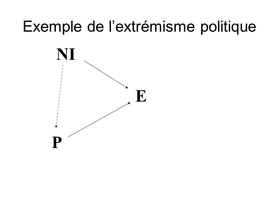 NI P E Exemple de lextrémisme politique