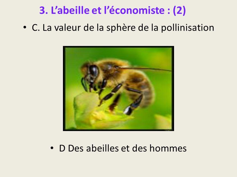 3. Labeille et léconomiste : (2) C. La valeur de la sphère de la pollinisation D Des abeilles et des hommes