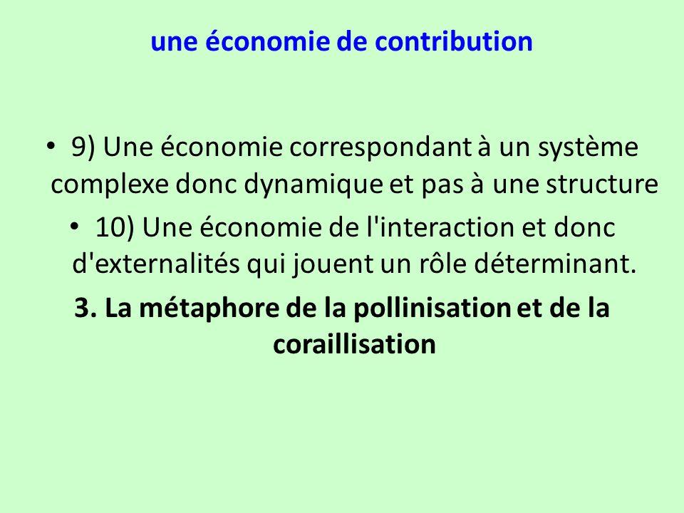 une économie de contribution 9) Une économie correspondant à un système complexe donc dynamique et pas à une structure 10) Une économie de l'interacti