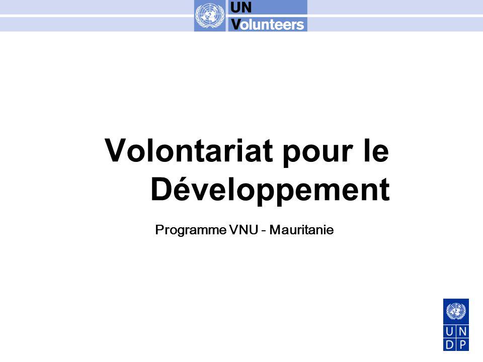 Volontariat pour le Développement Programme VNU - Mauritanie