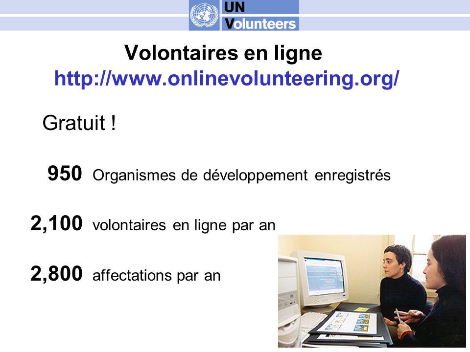 Volontaires en ligne http://www.onlinevolunteering.org/ Gratuit .