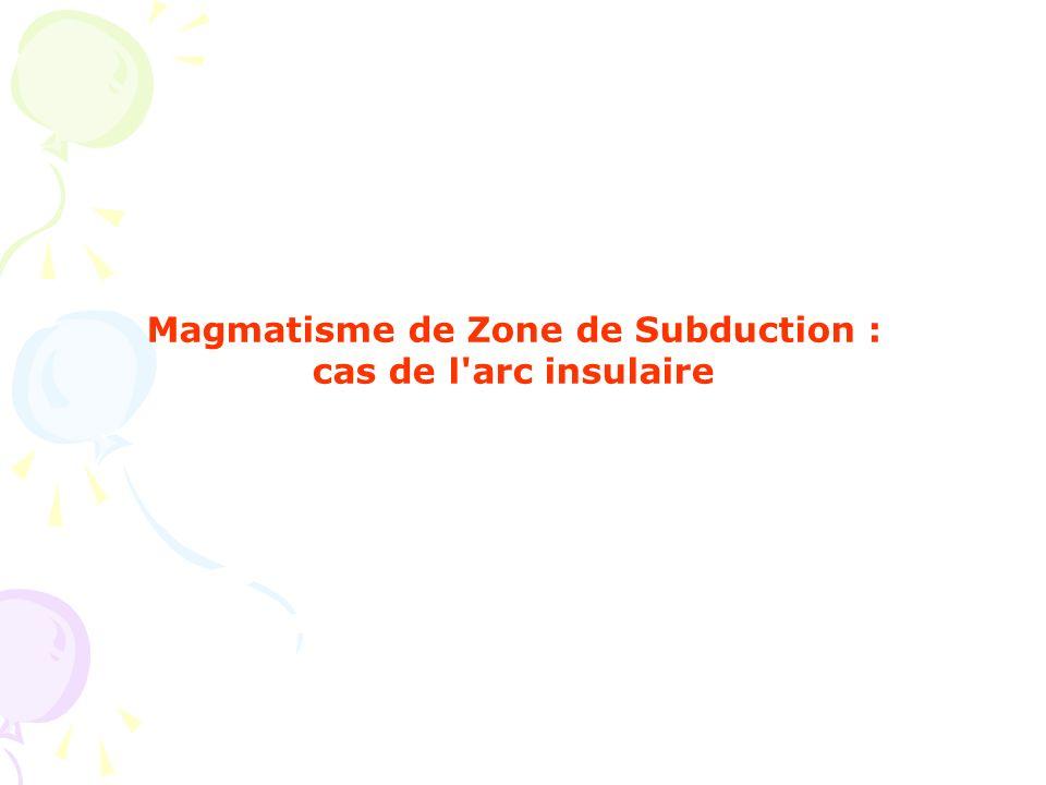 Magmatisme de Zone de Subduction : cas de l'arc insulaire
