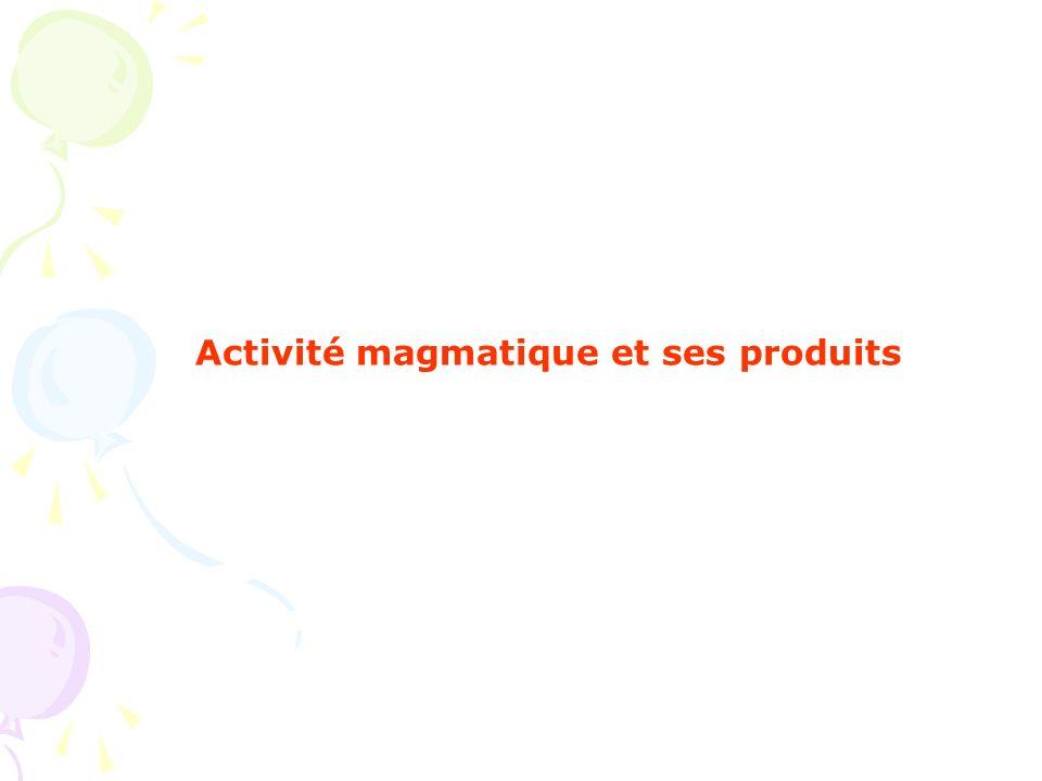 Activité magmatique et ses produits