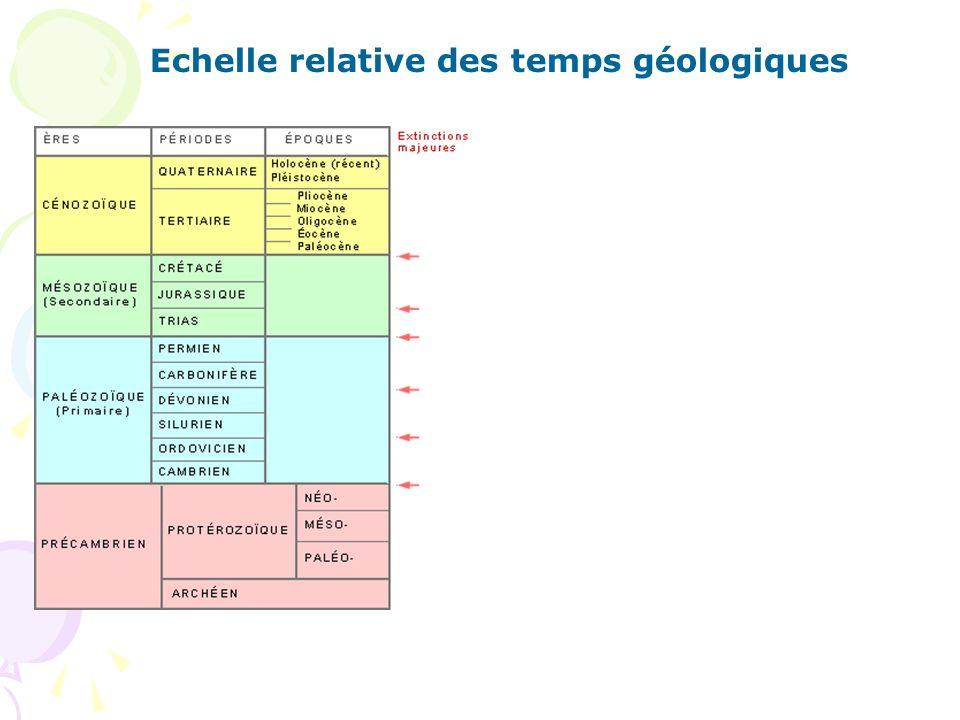 Echelle relative des temps géologiques
