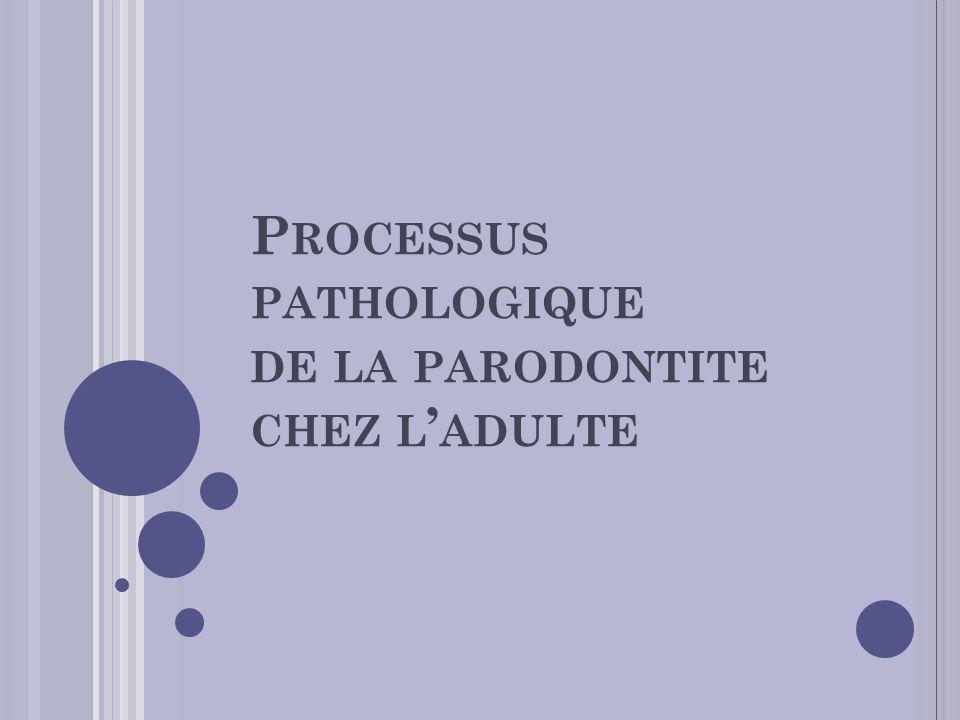 P ROCESSUS PATHOLOGIQUE DE LA PARODONTITE CHEZ L ADULTE
