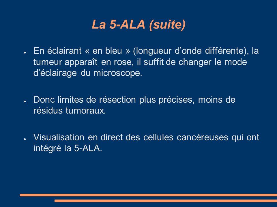 Utilisation 5-ALA : lumière blanche et lumière bleue