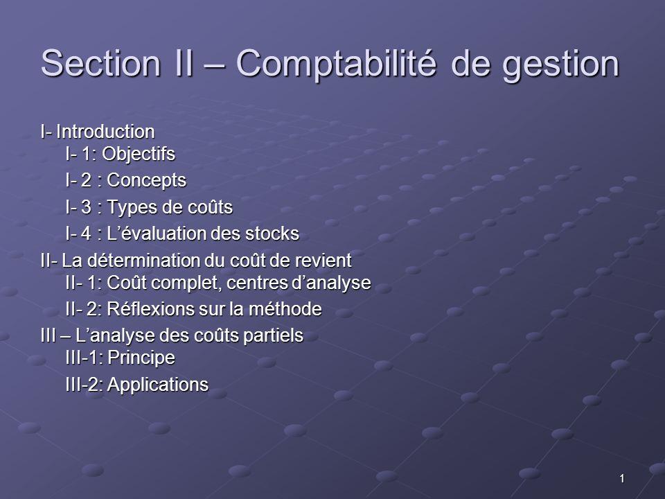 2 I- Introduction La comptabilité générale correspond à des obligations juridiques dinformation de tiers extérieurs à lentreprise.