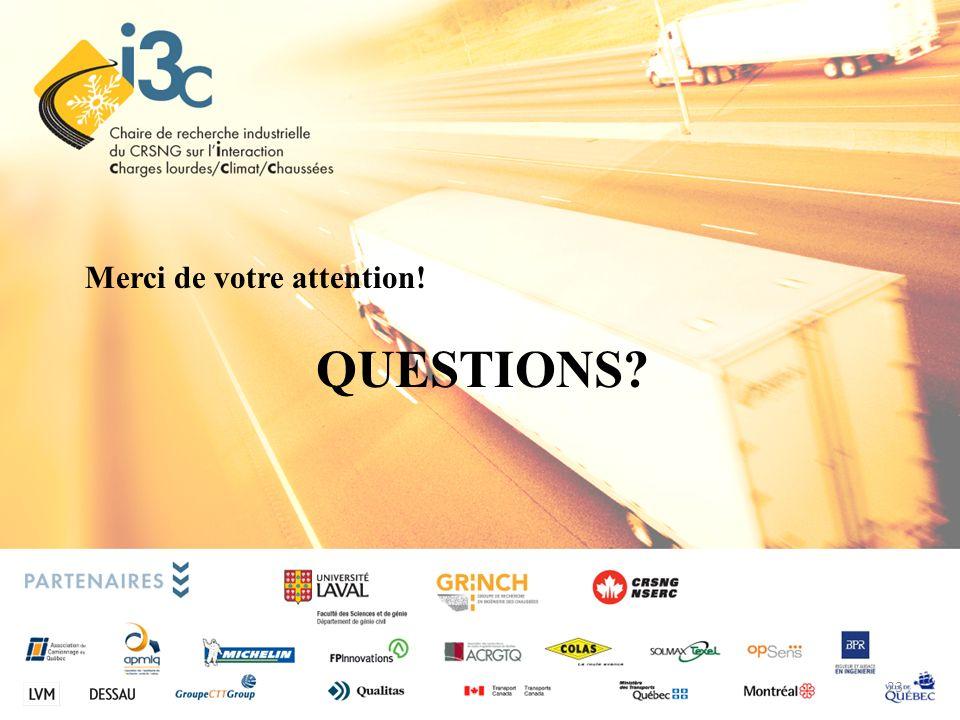 QUESTIONS? Merci de votre attention! 23