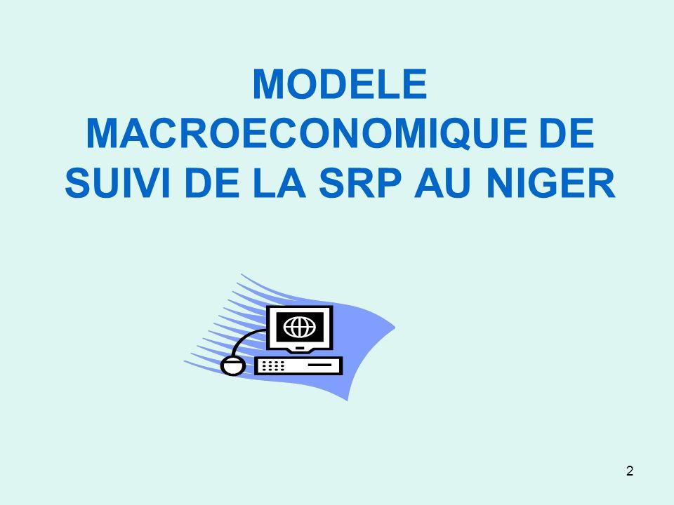2 MODELE MACROECONOMIQUE DE SUIVI DE LA SRP AU NIGER