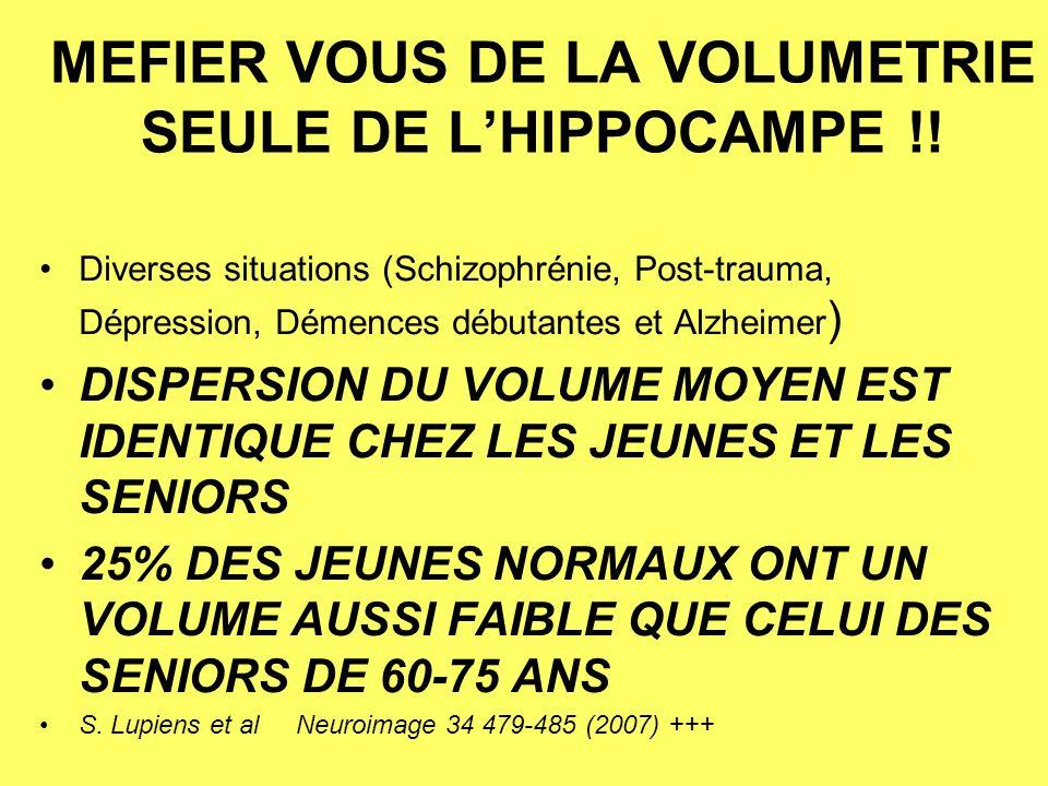 MEFIER VOUS DE LA VOLUMETRIE SEULE DE LHIPPOCAMPE !.
