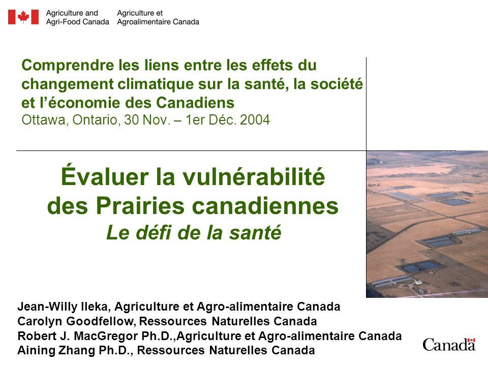 Comprendre les liens entre les effets du changement climatique sur la santé, la société et léconomie des Canadiens Ottawa, Ontario, 30 Nov.