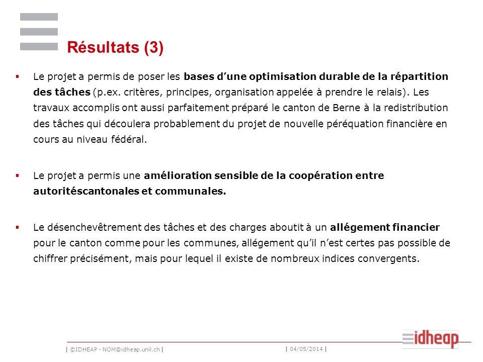 | ©IDHEAP - NOM@idheap.unil.ch | | 04/05/2014 | Péréquation financière et compensation des charges