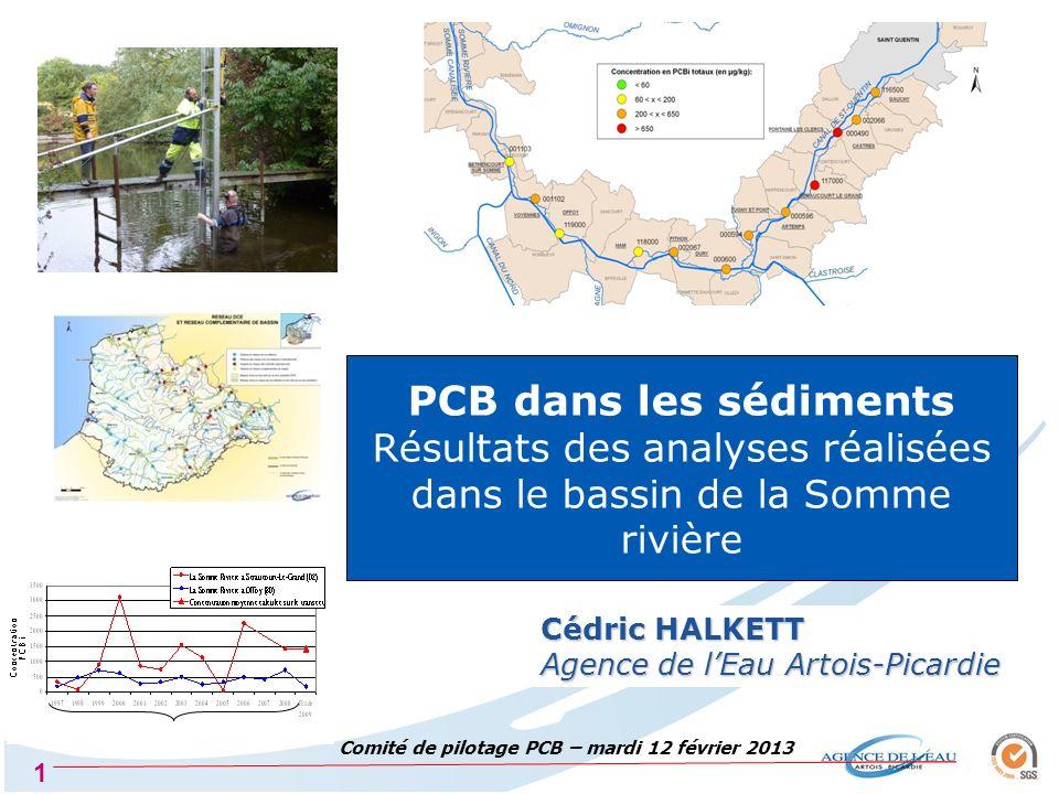 2 Plan national PCB 2008-2010 2008 : 107 sites dont 5 dans la Somme 2009 : 104 sites (aucun site en Artois-Picardie) 2010 : 124 sites dont 6 dans la Somme