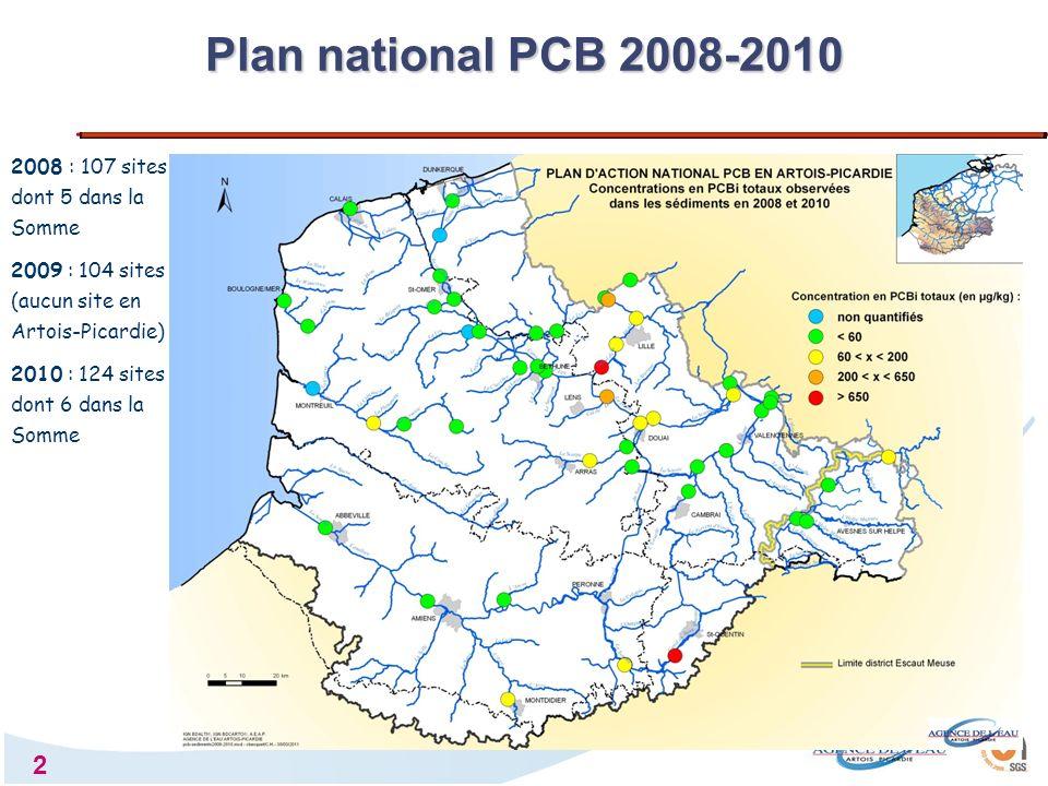3 Données sur sédiment : 2011 et 2012 Plan local PCB Somme