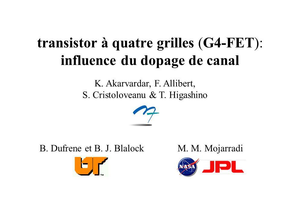 transistor à quatre grilles (G4-FET): influence du dopage de canal M.