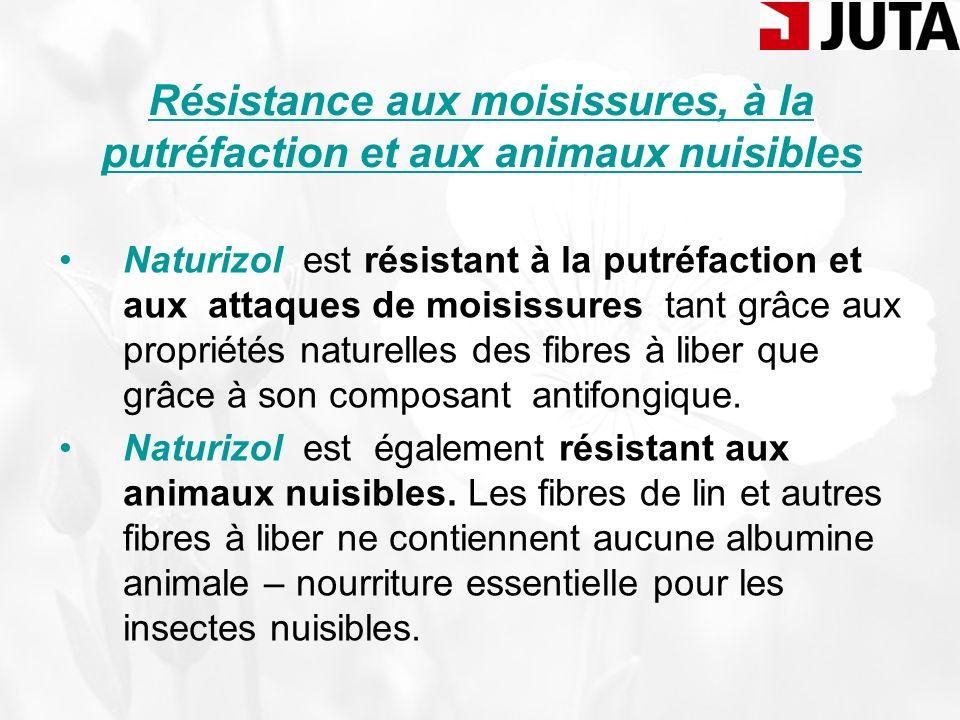Stabilité dimensionnelle et longue durée de vie Les fibres de lin et autres fibres à liber constituant le Naturizol sont naturellement résistantes et confèrent aux nappes isolantes un haut degré de résistance.