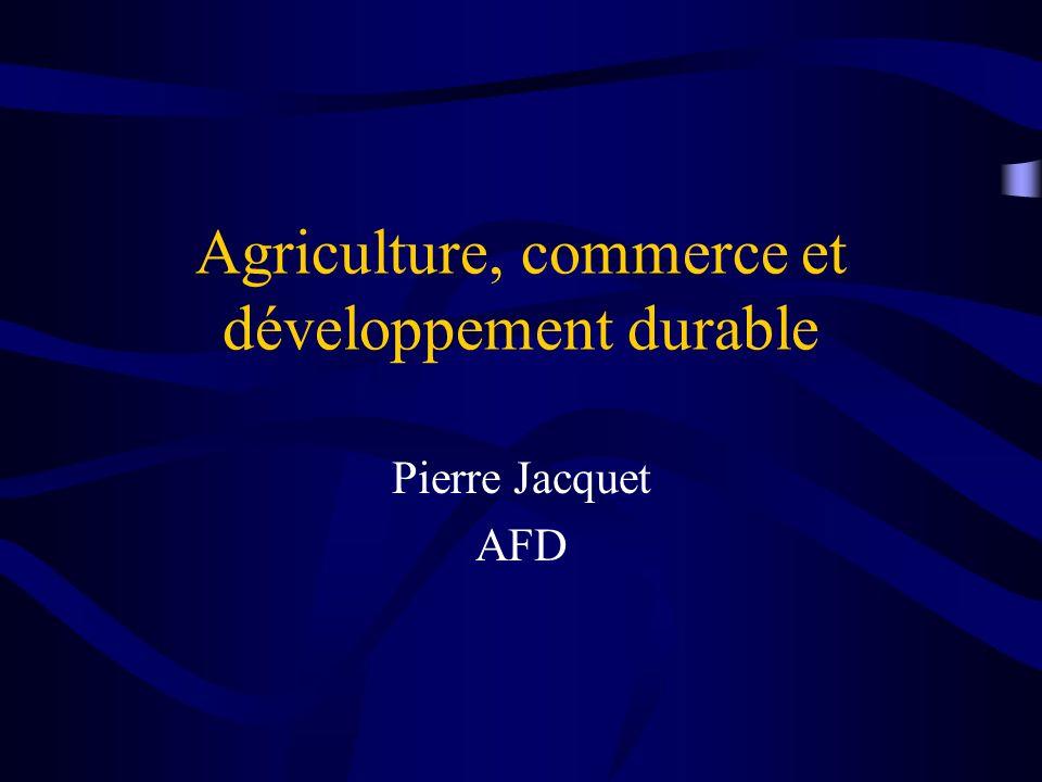 Sommaire Introduction : l agriculture au cœur du développement durable Lagriculture, un enjeu majeur du développement Commerce agricole et distorsions de marché: les contraintes pour le Sud LAPD, instrument daccompagnement de la mondialisation Conclusion