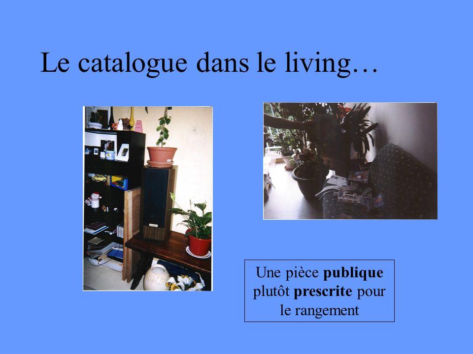 Le catalogue dans le living… Une pièce publique plutôt prescrite pour le rangement