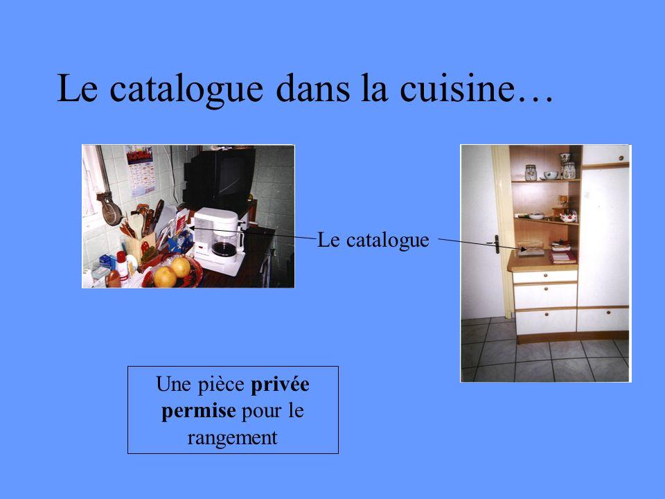 Le catalogue dans la cuisine… Le catalogue Une pièce privée permise pour le rangement