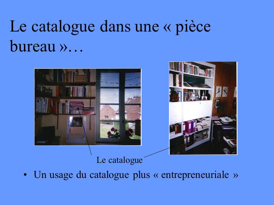 Le catalogue dans une « pièce bureau »… Un usage du catalogue plus « entrepreneuriale » Le catalogue