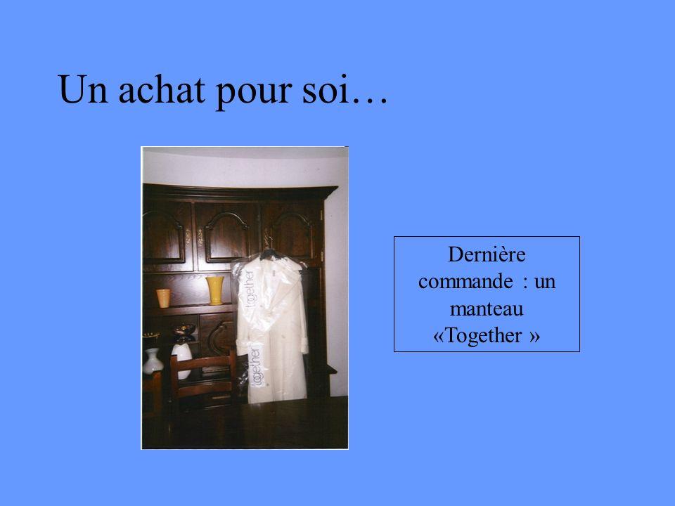 Un achat pour soi… Dernière commande : un manteau «Together »