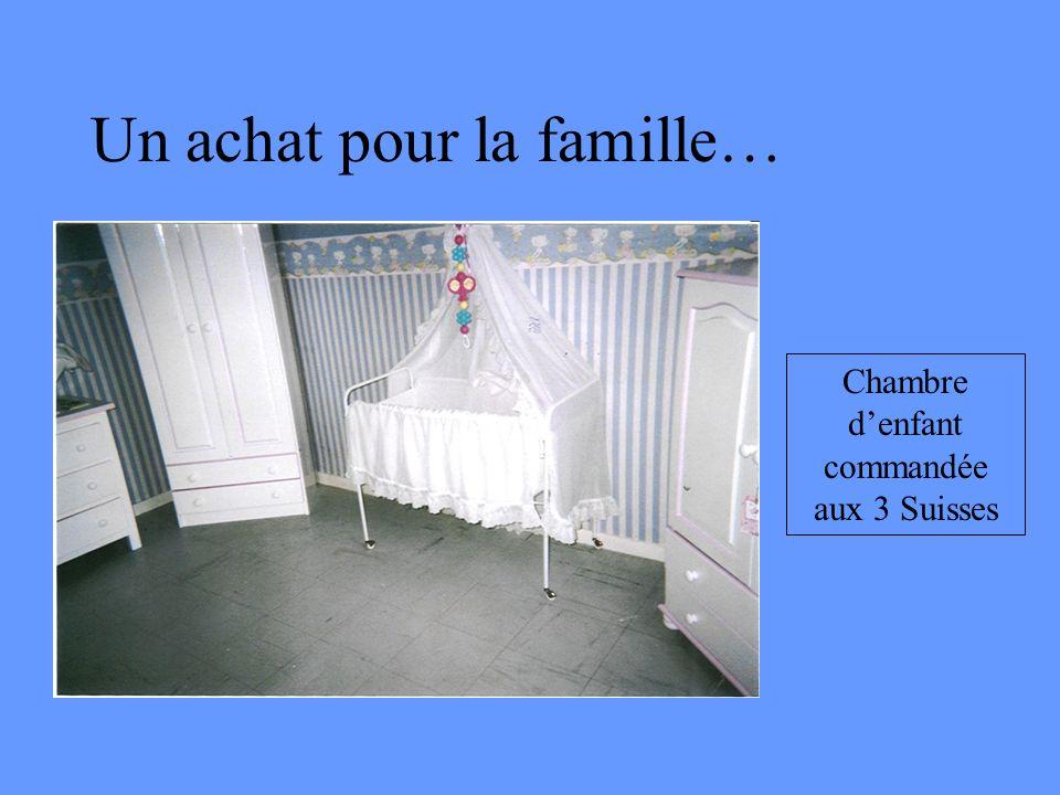 Un achat pour la famille… Chambre denfant commandée aux 3 Suisses