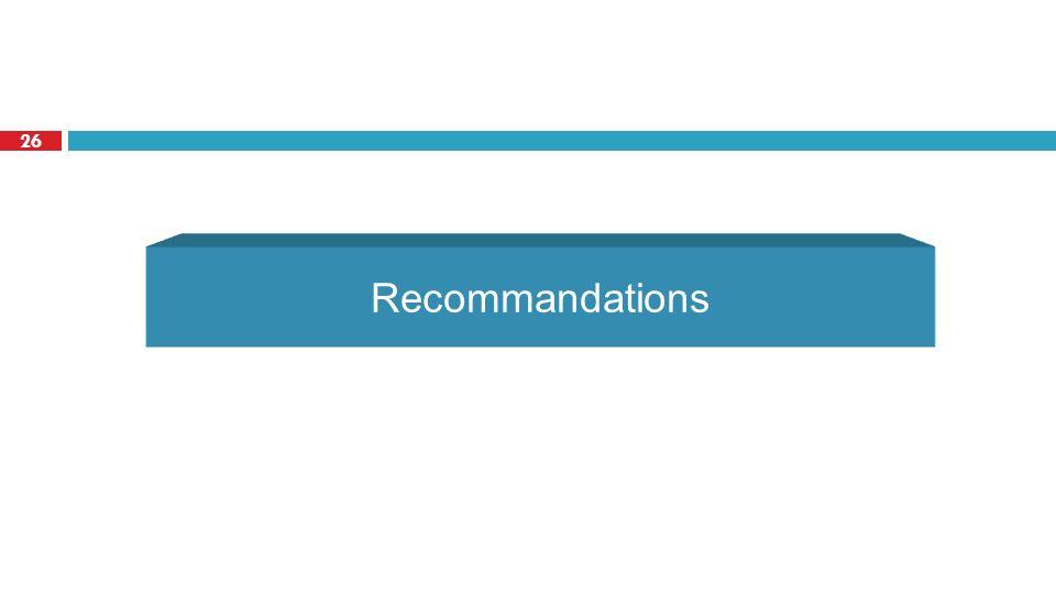 26 Recommandations