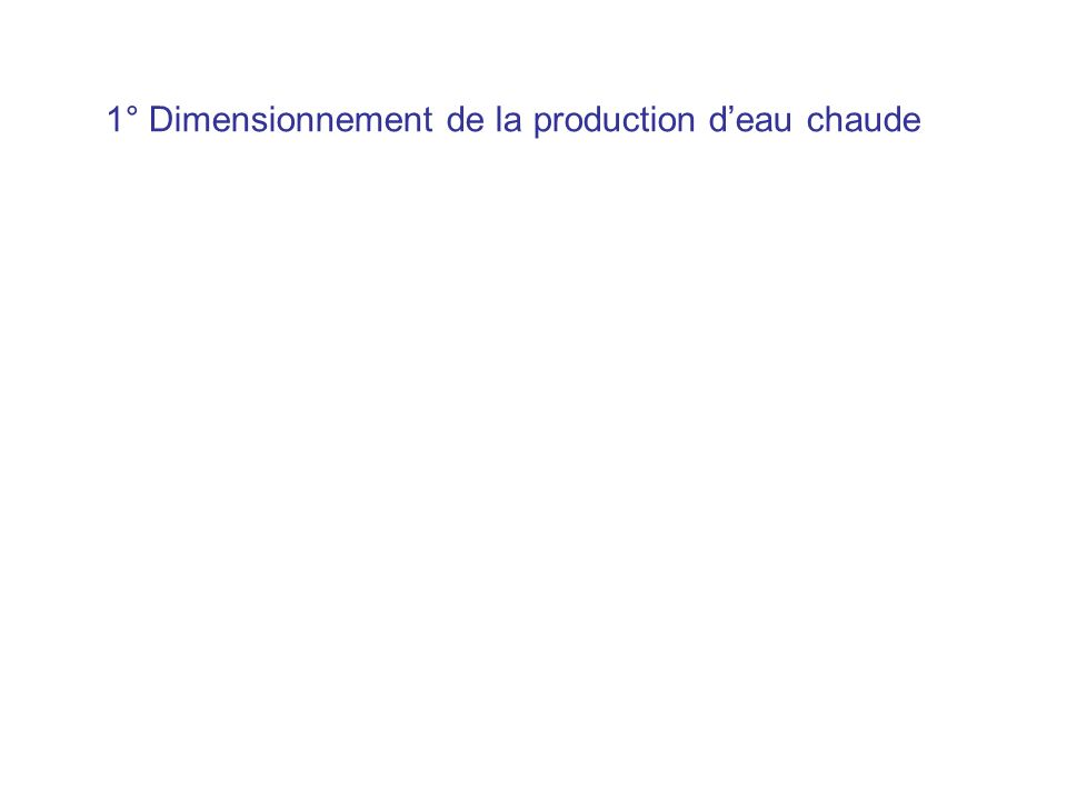 1° Dimensionnement de la production deau chaude