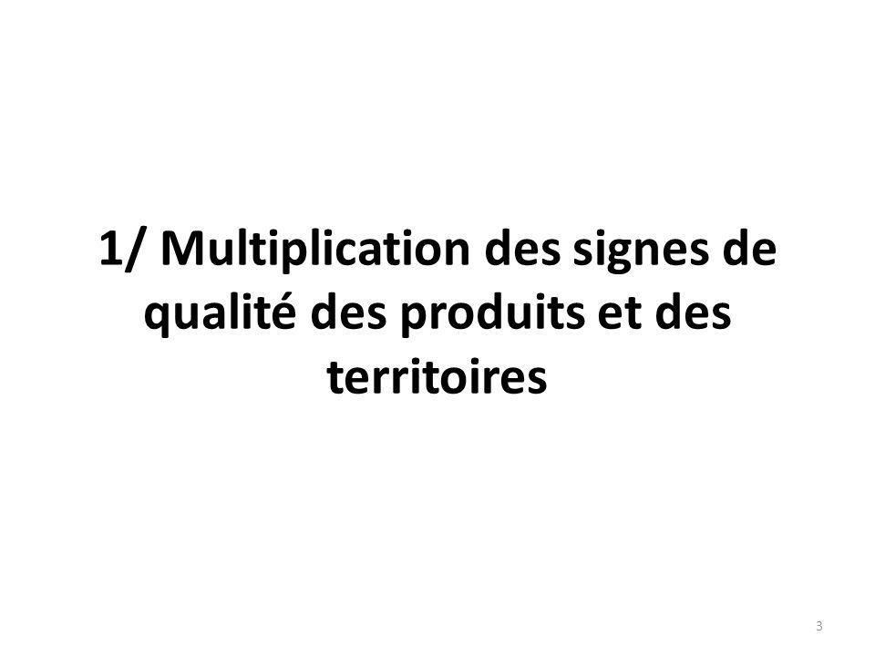 Le marché français des produits sous signes officiels de qualité en 2008 : 18 milliards = 15% des achats alimentaires 4 Produits Nombre labels Nombre producteurs CA HT (M.