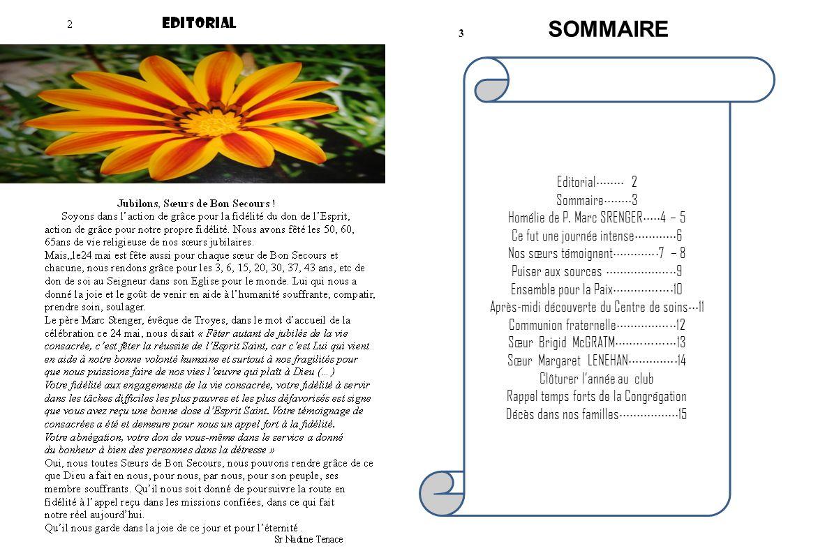 Editorial 2 Sommaire 3 Homélie de P.