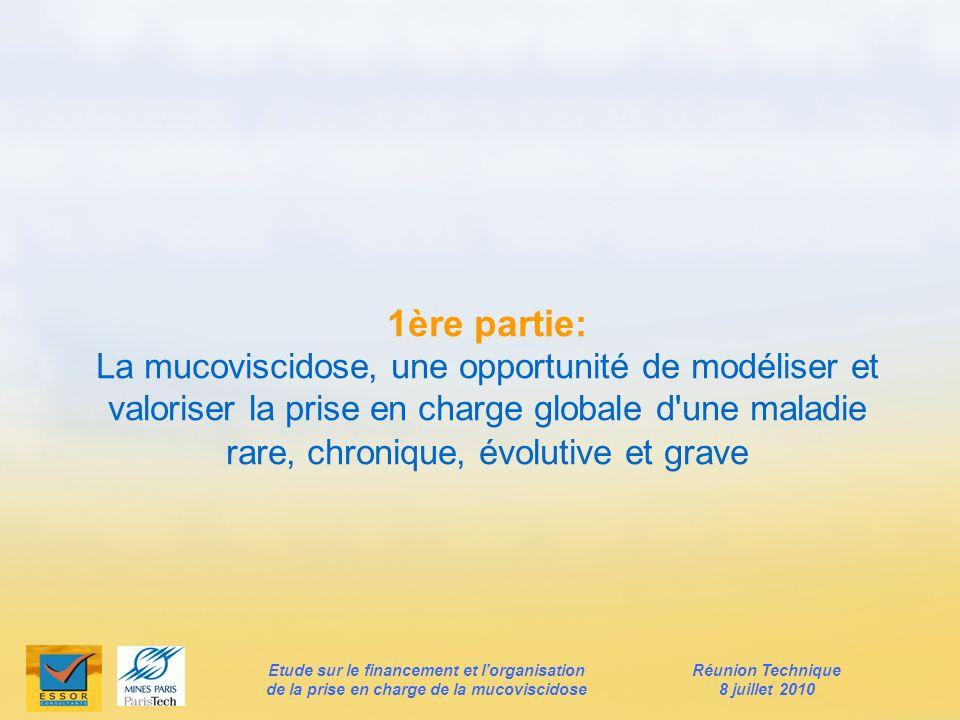 1ère partie: La mucoviscidose, une opportunité de modéliser et valoriser la prise en charge globale d'une maladie rare, chronique, évolutive et grave