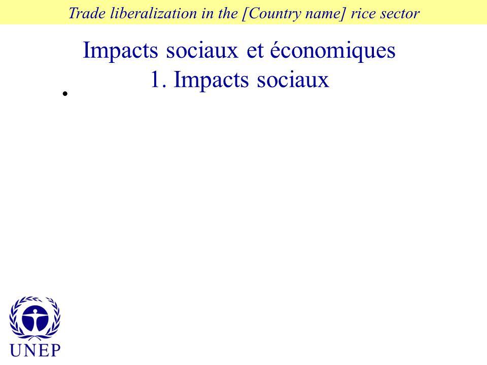 Impacts sociaux et économiques 1.