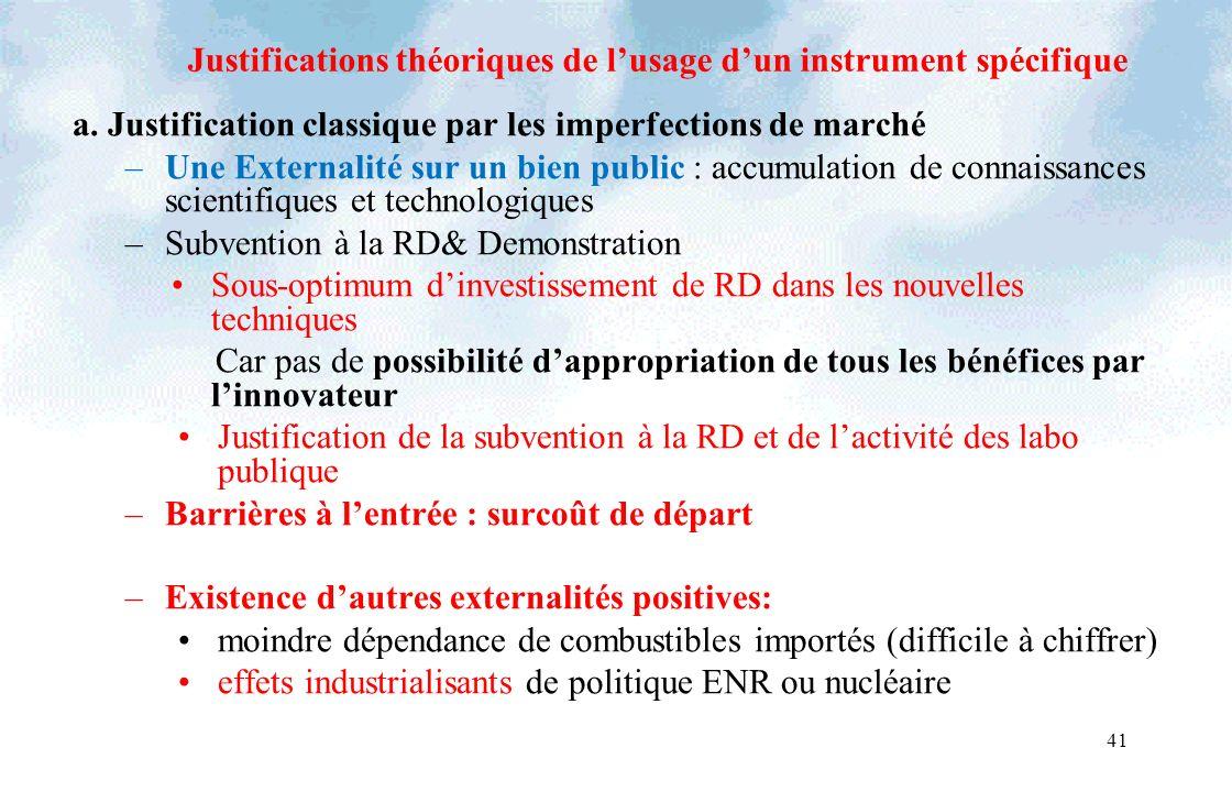 41 Justifications théoriques de lusage dun instrument spécifique a.
