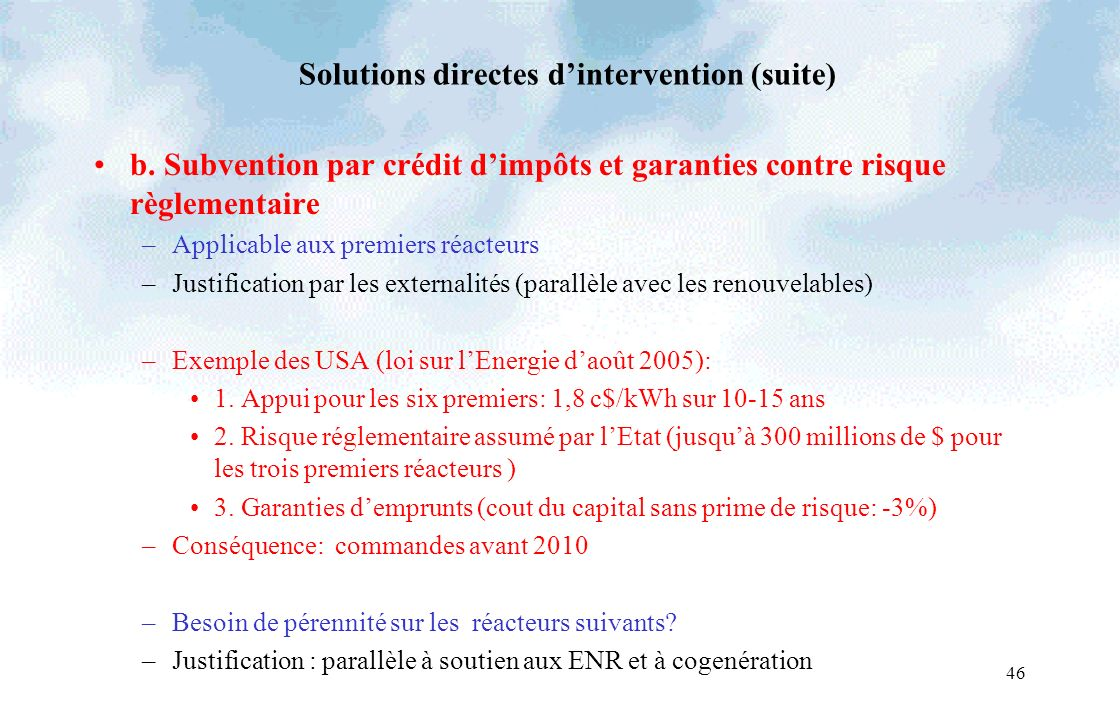 46 Solutions directes dintervention (suite) b.