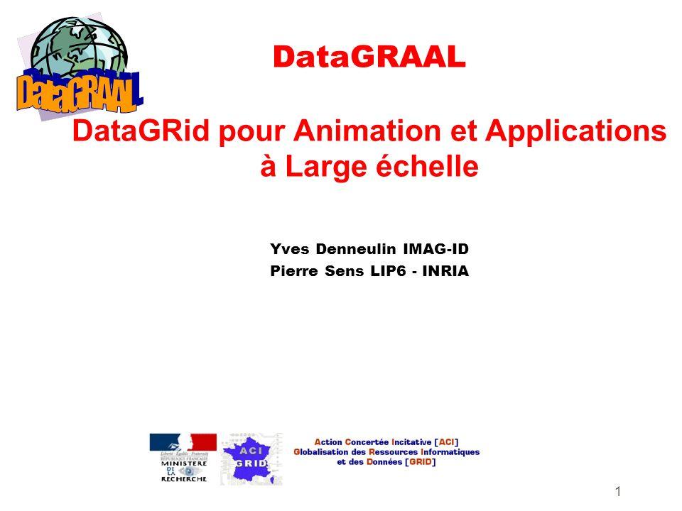 1 DataGRAAL DataGRid pour Animation et Applications à Large échelle Yves Denneulin IMAG-ID Pierre Sens LIP6 - INRIA
