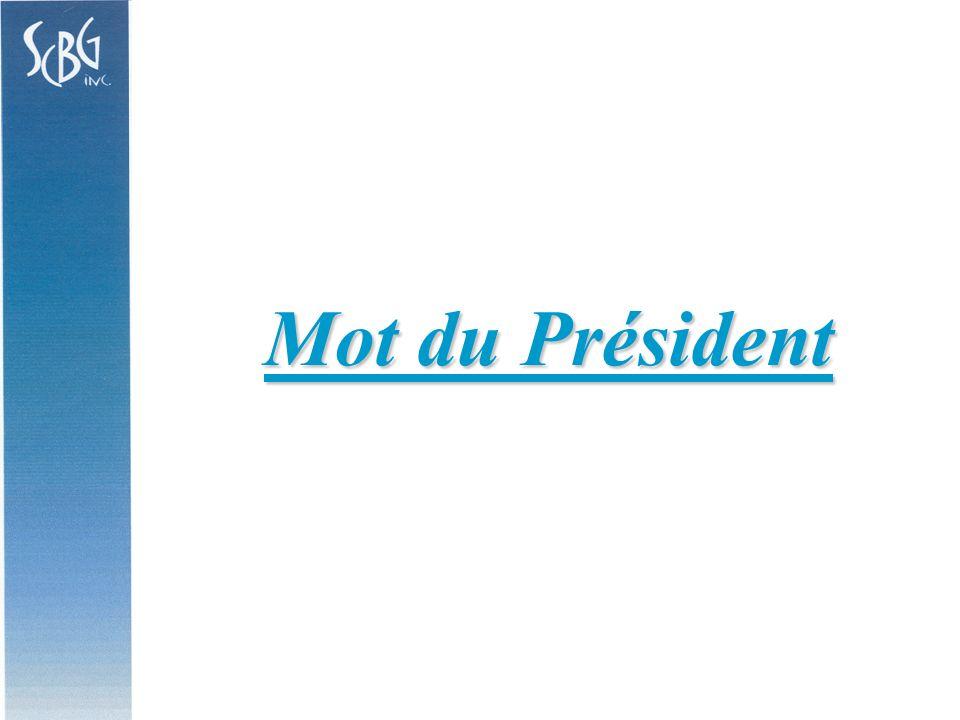 Mot du Président