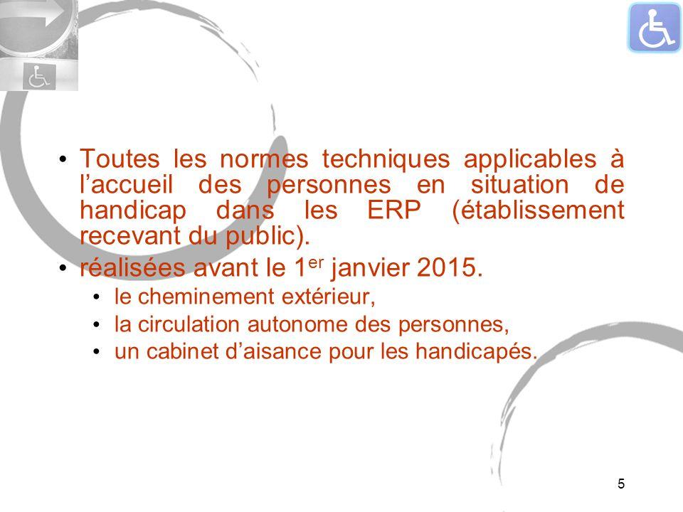 Toutes les normes techniques applicables à laccueil des personnes en situation de handicap dans les ERP (établissement recevant du public).