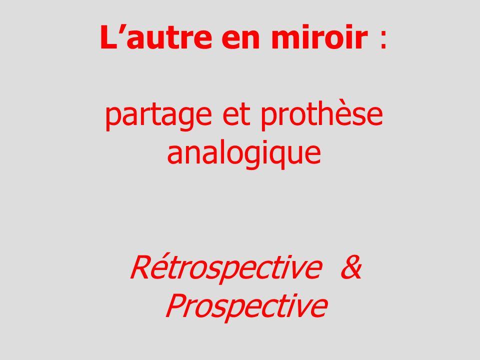 Lautre en miroir : partage et prothèse analogique Rétrospective & Prospective
