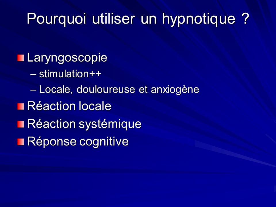 Pourquoi utiliser un hypnotique .