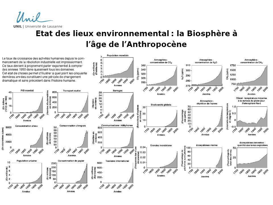 Etat des lieux environnemental : la Biosphère à lâge de lAnthropocène