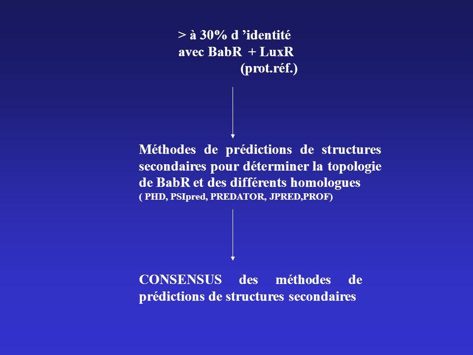 Méthode utilisée pour réaliser le consensus Score PHD Score PSIPRED