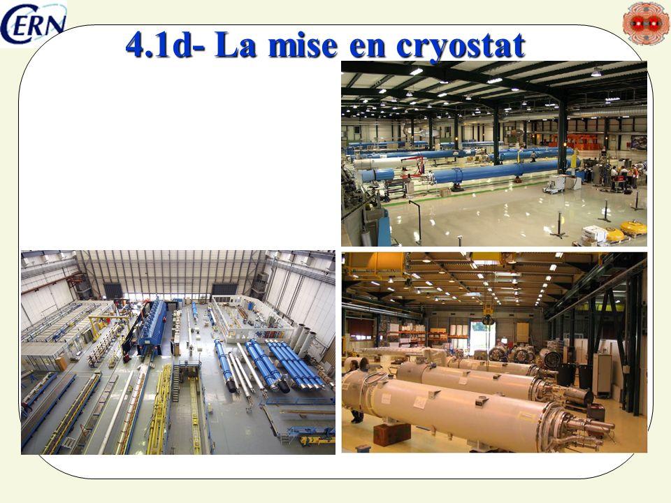 4.1d- La mise en cryostat