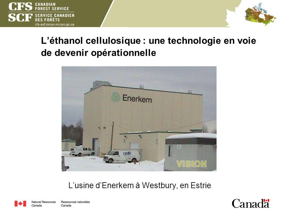 Léthanol cellulosique : une technologie en voie de devenir opérationnelle Lusine dEnerkem à Westbury, en Estrie